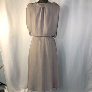 Miilla Clothing Dresses - Miilla Grey Gauzy Belted Dress